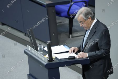 Antonio Guterres. Special session of the German Bundestag on 75 years of the United Nations with UN Secretary General Guterres