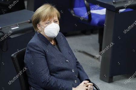 Angela Merkel. Special session of the German Bundestag on 75 years of the United Nations with UN Secretary General Guterres