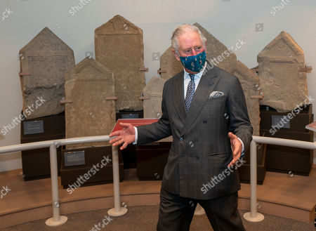 Prince Charles visited the Corinium Museum and viewed their interactive galleries depicting the story of the life in the Cotswolds from 40,000 years ago, right up to the early Corinium era (early Roman times) including Bronze Age and Iron Age artefacts. HRH toured the new 'Stone Age to Corinium Gallery' and saw some of their key exhibits and some newly acquired pieces. The Prince with Roman gravestones
