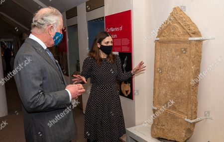 Prince Charles visited the Corinium Museum and viewed their interactive galleries depicting the story of the life in the Cotswolds from 40,000 years ago, right up to the early Corinium era (early Roman times) including Bronze Age and Iron Age artefacts. HRH toured the new 'Stone Age to Corinium Gallery' and saw some of their key exhibits and some newly acquired pieces. The gravestone of Bodacacia