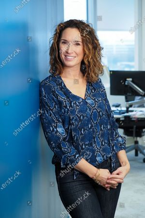 Stock Picture of Marie-Sophie Lacarrau posing at TF1.