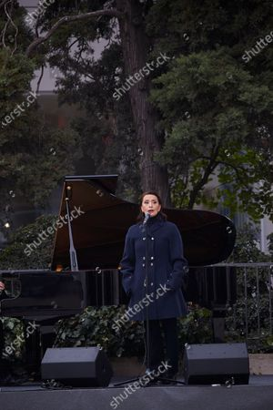 Stock Picture of Singer Luz Casal attends the inauguration of the Monument in Memory to late Health Workers during the Covid-19 pandemic at Plaza de los Sagrados Corazones