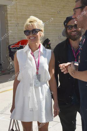 Stock Picture of Pamela Anderson (USA) Actress and husband Rick Salomon (USA). Formula One World Championship, Rd17, United States Grand Prix, Qualifying, Austin, Texas, USA, Saturday 1 November 2014.