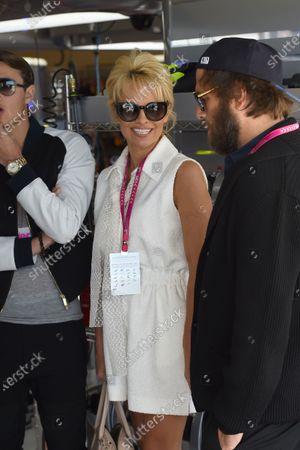 Stock Image of Pamela Anderson (USA) Actress and husband Rick Salomon (USA). Formula One World Championship, Rd17, United States Grand Prix, Qualifying, Austin, Texas, USA, Saturday 1 November 2014.