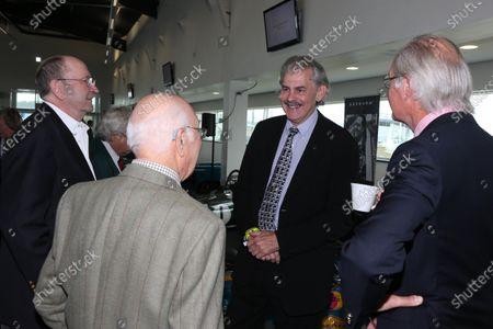 Gordon Murray (RSA) and Murray Walker (GBR). Jack Brabham Memorial Service, Silverstone Wing, Silverstone, England, 24 October 2014.