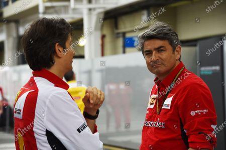 Marco Mattiacci (ITA) Ferrari Team Principal, right. Formula One World Championship, Rd18, Brazilian Grand Prix, Race, Sao Paulo, Brazil, Sunday 9 November 2014.