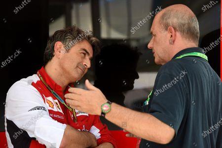Marco Mattiacci (ITA) Ferrari Team Principal, left. Formula One World Championship, Rd18, Brazilian Grand Prix, Qualifying, Sao Paulo, Brazil, Saturday 8 November 2014.