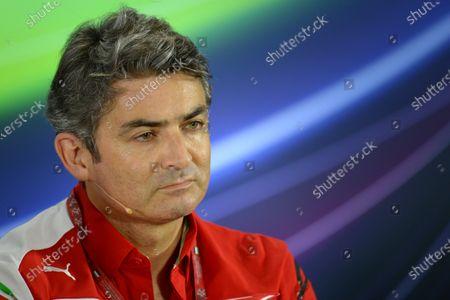 Marco Mattiacci (ITA) Ferrari Team Principal in the Press Conference. Formula One World Championship, Rd19, Abu Dhabi Grand Prix, Practice, Yas Marina Circuit, Abu Dhabi, UAE, Friday 21 November 2014.