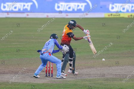 Gemcon Khulna cricket player Mahmudullah seen in action during the Bangabandhu T20 Cup 2020 Final between Gazi Group Chattagram and Gemcon Khulna at the Sher-e-Bangla National Cricket Stadium in Dhaka.