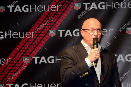 Stephane Linder, CEO of TAG Heuer at the unveiling of the TAG Heuer watch collection. Formula One World Championship, Rd19, Abu Dhabi Grand Prix, Qualifying, Yas Marina Circuit, Abu Dhabi, UAE, Saturday 22 November 2014.