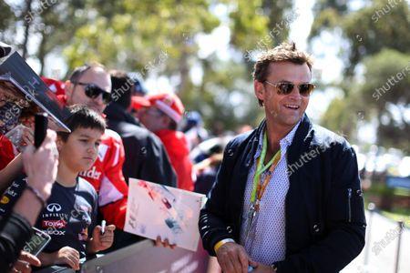 former Australian cricketer Adam Gilchrist (AUS) at Formula One World Championship, Rd1, Australian Grand Prix, Race, Albert Park, Melbourne, Australia, Sunday 15 March 2015.