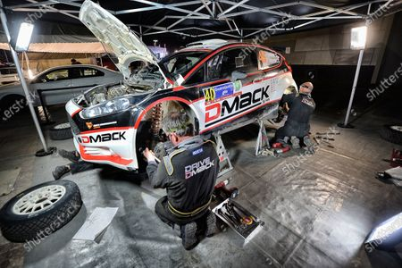 Jari Ketomaa (FIN) and Kaj Lindstrom (FIN) Ford Fiesta RS WRC in Service at World Rally Championship, Rd3, Rally Mexico, Day Two, Leon, Mexico, 7 March 2015.