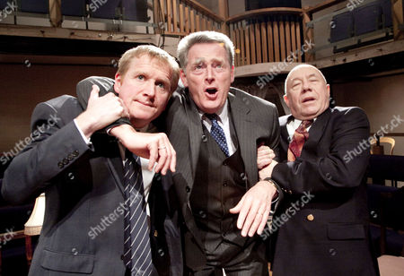 l-r: Matthew Cottle (Tristram), Michael Simkins (Roland), Adrian McLoughlin (Bainbridge)