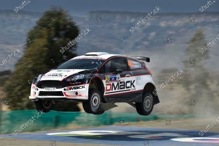 Stock Image of Jari Ketomaa (FIN) and Kaj Lindstrom (FIN) Ford Fiesta RS WRC at World Rally Championship, Rd3, Rally Mexico, Day Two, Leon, Mexico, 7 March 2015.
