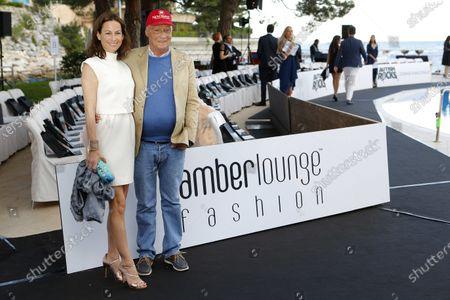 Niki Lauda (AUT) and girlfriend Birgit Wetzinger (AUT) at Amber Lounge Fashion Show, Le Meridien Beach Plaza, Monte Carlo, Monaco, 22 May 2015.