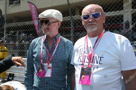 Chris Evans (GBR) and Sir Tom Hunter (GBR) on the grid at Formula One World Championship, Rd6, Monaco Grand Prix Race, Monte-Carlo, Monaco, Sunday 24 May 2015.