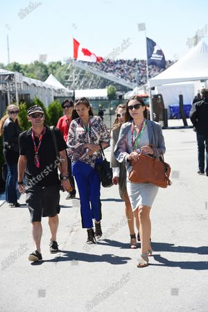 Guy Laliberte (CDN) Cirque de Soleil owner and founder with his family at Formula One World Championship, Rd7, Canadian Grand Prix, Qualifying, Montreal, Canada, Saturday 6 June 2015.