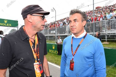 Guy Laliberte (CDN) Cirque de Soleil and Jean Alesi (FRA) on the grid at Formula One World Championship, Rd7, Canadian Grand Prix, Race, Montreal, Canada, Sunday 7 June 2015. BEST IMAGE
