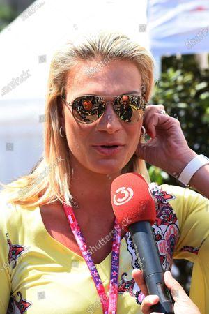 Maria Hofl-Riesch (GER) RTL at Formula One World Championship, Rd6, Monaco Grand Prix Race, Monte-Carlo, Monaco, Sunday 24 May 2015.