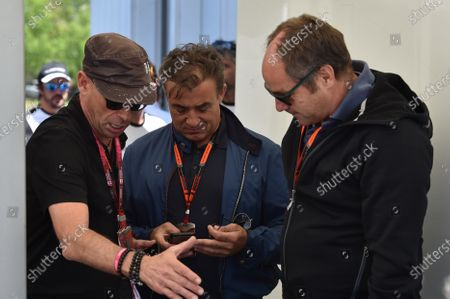 Guy Laliberte (CDN) Cirque de Soleil, Jean Alesi (FRA) and Gerhard Berger (AUT) Former F1 driver  at Formula One World Championship, Rd7, Canadian Grand Prix, Qualifying, Montreal, Canada, Saturday 6 June 2015.