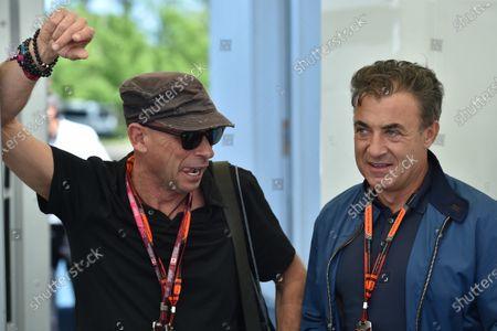 Guy Laliberte (CDN) Cirque de Soleil and Jean Alesi (FRA) at Formula One World Championship, Rd7, Canadian Grand Prix, Qualifying, Montreal, Canada, Saturday 6 June 2015.