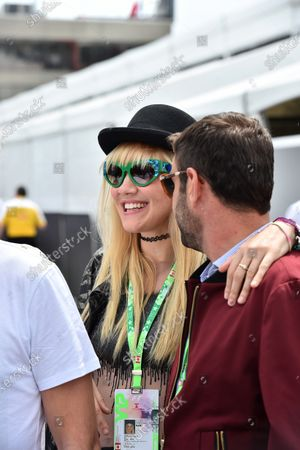 Stock Picture of Carlo Boutagy (BRN) and Olivia Nervo (AUS) Musician / DJ at Formula One World Championship, Rd7, Canadian Grand Prix, Race, Montreal, Canada, Sunday 7 June 2015.
