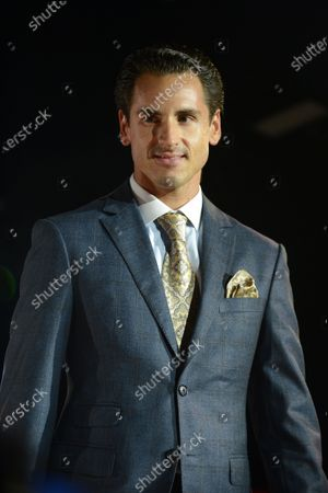Adrian Sutil (GER) at the Amber Lounge Fashion Show at Formula One World Championship, Rd13, Singapore Grand Prix, Qualifying, Marina Bay Street Circuit, Singapore, Saturday 19  September 2015.