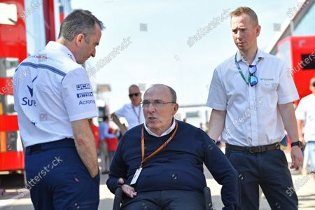 Paddy Lowe (GBR) Williams Shareholder and Technical Director and Frank Williams (GBR) Williams Team Owner