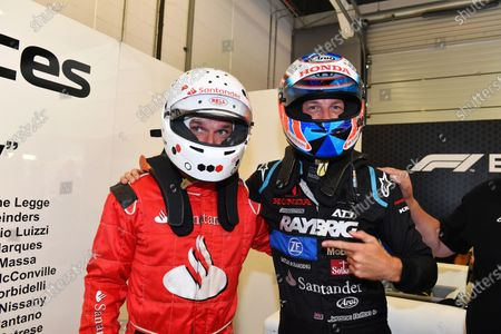 Jenson Button (GBR) F1 Experiences 2-Seater Driver and F1 Experiences 2-Seater passenger Guy Martin (GBR)