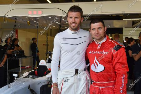 F1 Experiences 2-Seater passenger Guy Martin (GBR) and F1 Experiences 2-Seater passenger Michael Carrick (GBR) Footballer