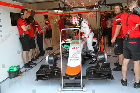 Fabio Leimer (SUI) Manor GP Test and Reserve Driver at Formula One World Championship, Rd10, Hungarian Grand Prix, Practice, Hungaroring, Hungary, Friday 24 July 2015.