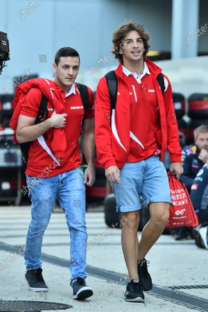 Fabio Leimer (SUI) Manor GP Test and Reserve Driver and Roberto Merhi (ESP) Manor GP at Formula One World Championship, Rd15, Russian Grand Prix, Preparations, Sochi Autodrom, Sochi, Krasnodar Krai, Russia, Thursday 8 October 2015.