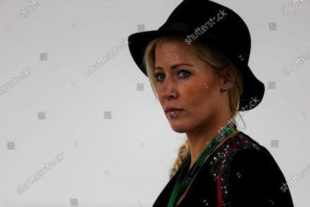 Jennifer Becks (GER) girlfriend of Adrian Sutil (GER) Williams Reserve Driver at Formula One World Championship, Rd14, Japanese Grand Prix, Practice, Suzuka, Japan, Friday 25 September 2015.