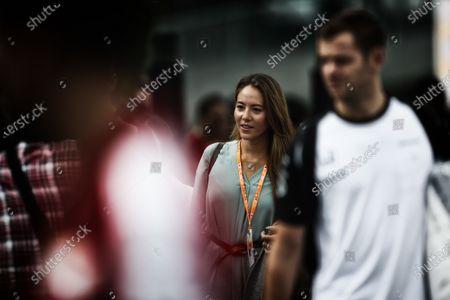Stock Image of Jessica Michibata (JPN) Wife of Jenson Button (GBR) McLaren at Formula One World Championship, Rd14, Japanese Grand Prix, Race, Suzuka, Japan, Sunday 27 September 2015.
