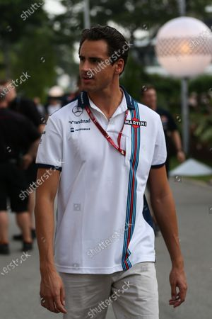 Adrian Sutil (GER) Williams Reserve driver at Formula One World Championship, Rd13, Singapore Grand Prix, Race, Marina Bay Street Circuit, Singapore, Sunday 20 September 2015.