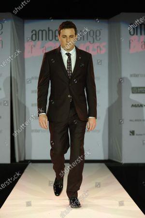 Fabio Leimer (SUI) at the Amber Lounge Fashion Show at Formula One World Championship, Rd13, Singapore Grand Prix, Qualifying, Marina Bay Street Circuit, Singapore, Saturday 19  September 2015.