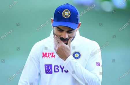 Indian captain Virat Kohli reacts following Australias victory on day 3 of the first Test Match between Australia and India at Adelaide Oval, Adelaide, South Australia, Australia, 19 December 2020.