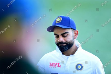 Stock Picture of Indian captain Virat Kohli reacts dejected following Australia's victory on day 3 of the first Test Match between Australia and India at Adelaide Oval, Adelaide, South Australia, Australia, 19 December 2020.