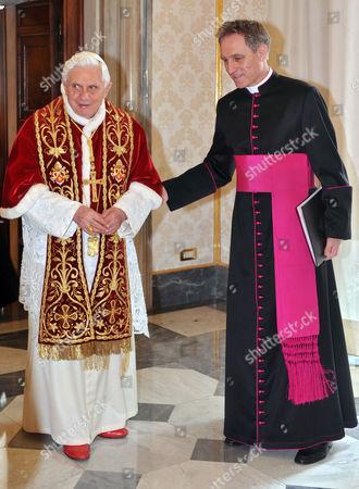 Pope Benedict XVI with his personal Secretary George Gaenswein