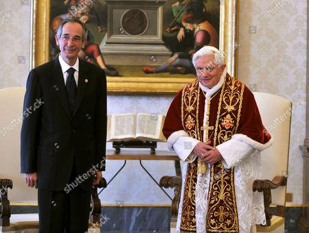 President of Guatemala  Alvaro Colom Caballeros and Pope Benedict XVI