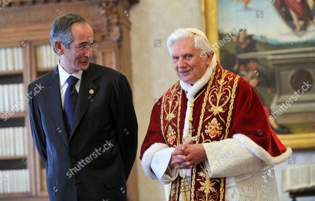 President of Guatemala, Alvaro Colom Caballeros and Pope Benedict XVI