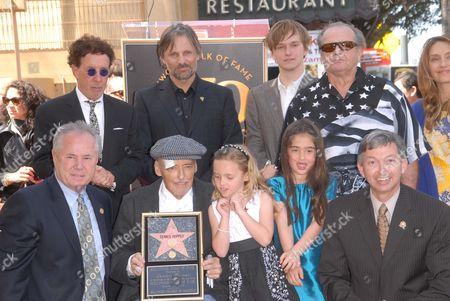 Stock Photo of Dennis Hopper, Galen Hopper, Violet Goldstone, Henry Hopper, Ruthanna Hopper, Marin Hopper, Viggo Mortensen and Jack Nicholson