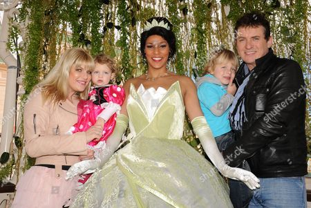 Shane Richie and his family with Princess Tiana