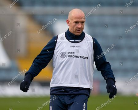 Charlie Adam of Dundee during the warm up before the match; Dens Park, Dundee, Scotland; Scottish Championship Football, Dundee FC versus Dunfermline.