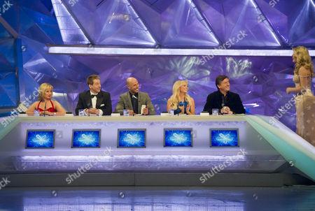 Judges: Karen Barber, Nicky Slater, Jason Gardiner, Emma Bunton, Robin Cousins, and presenters, Holly Willoughby.