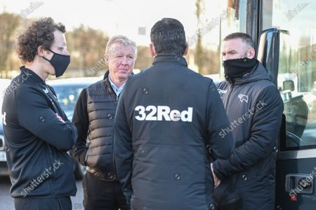 Technical director Steve McClaren and Manager of Derby County Wayne Rooney receives information of a Covid outbreak in the Rotherham United squad.