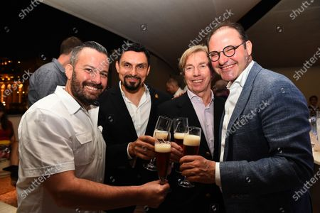 Christian Seitz (GER) CEO and Founder of Neuschwansteiner, and Neuschwansteiner Ambassador H.R.H. Prince Leopold of Bavaria at the Neuchwansteiner Fashion Show After Party at Formula One World Championship, Rd19, Abu Dhabi Grand Prix, Preparations, Yas Marina Circuit, Abu Dhabi, UAE, Thursday 26 November 2015.