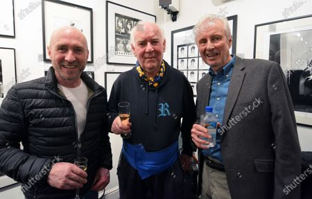 Perry McCarthy (GBR) Malcolm Clube (GBR) and David Winter (GBR) at James Hunt, Girls, Beer and Victory Exhibition Official Opening, Proud Chelsea, London, England, 10 February 2016.