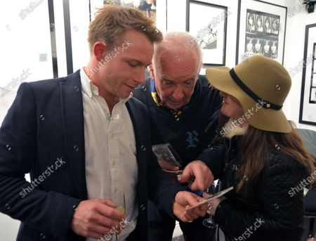 Tom Hunt (GBR) and Malcolm Clube (GBR) at James Hunt, Girls, Beer and Victory Exhibition Official Opening, Proud Chelsea, London, England, 10 February 2016.