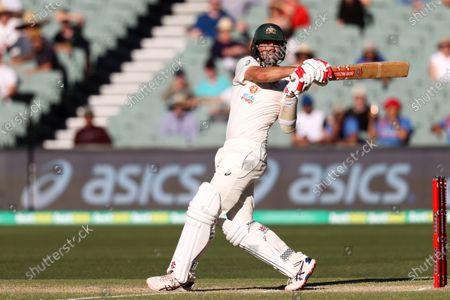 Steven Smith of Australia hits the ball